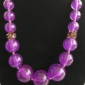 kate spade Jewelry - Kate Spade purple large bead necklace